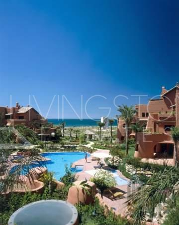 Wonderful 2 bedroom apartment with private garden in one of the most luxury beach front ...