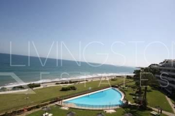 First line beach Apartment in luxury complex with stunning views to the sea and tropical ...