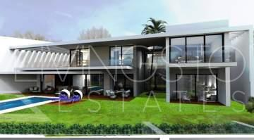 A stunning new contemporary house with advanced design and technological features, located in ...