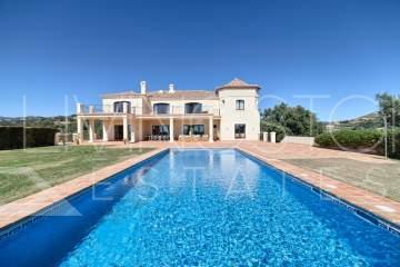 Stylish mansion on a big flat plot, south facing with great views to the Coast,  Marbella Golf ...