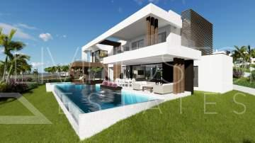 Modern new villa with sea views, Cancelada Estepona
