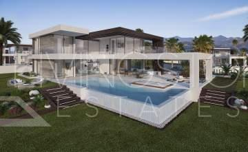 Luxury villas for sale with private garden and pool, between Marbella and Estepona